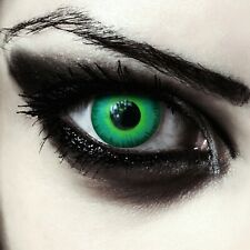 Giftgrüne farbige Halloween Kostüm Kontaktlinsen Maleficent Hutmacher Make up