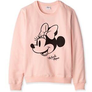 Original Disney Minnie Mickey Mouse Women's Adult Cotton Sweatshirt Jumper XS