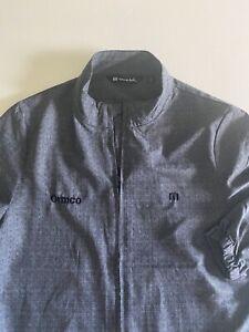Travis Mathew Golf Mens Medium Gray Full Zip L/S Golf Jacket Company Logo EUC