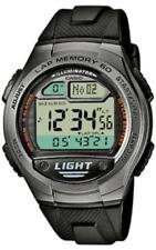 Casio  W-734-1A   Digital   100m   Sport   Watch  60  Lap  Memory  Black  W734