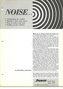 Technical Report - Noise - Plant Survey Control - Power Magazine - 1962 (E6773)