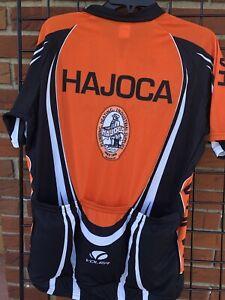 Mens Voler Triathlon Cycling Jersey XXL 80 Pro Orange Black Zip Up Hajoca