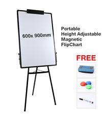 Portable Flipchart Whiteboard adjustable Easel magnetic Floor T Type 60*90cm