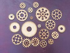 XXL Steampunk Cogs Wooden MDF Bundle Mixed Sizes 225mm - 600mm Craft Blanks