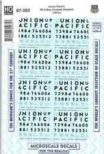 HO Scale Microscale 87-265 Union Pacific UP 100-ton PS Grain Hoppers Decal Set