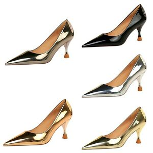 Women's High Heel Party/Cocktail Shoes Metallic Patent Leather Pointed Toe Pumps