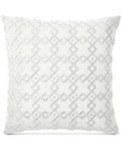 """Hotel Collection Embroidered 22"""" TWO Decorative Pillows"""