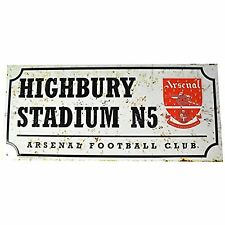 ARSENAL FC Rétro Plaque de rue en métal Highbury stade football