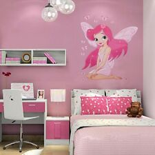 Kids Girl FAIRY PRINCESS Butterflies Wall Sticker Room Nursery Vinyl Art Decal