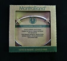 """Stainless MantraBand """"Love Is Patient, Love Is Kind"""" Bracelet"""
