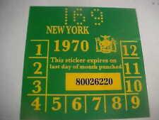 new york 1970 registration inspection sticker windshild