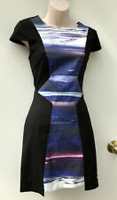 MILK AND HONEY Panel Dress with Back Cut Out Stretch Cotton sz 8 NWT Rrp $109.95