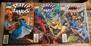 1996 Archie STREET SHARKS-first mini series comic book set #1-#3 + bonus!