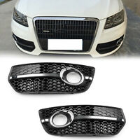 1Pair Front Bumper Grill Fog Light Lamp Covers Trim For Audi Q5 2009-2011 New