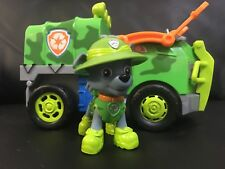 PAW PATROL Rocky's Jungle Rescue Truck Vehicle Rocky Figure Toy EUC