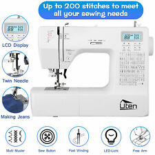 Quilting Sewing Machine Automatic Threading 8 Sewing Feet Free Arm 200 Stitches