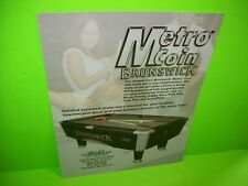 Valley Dynamo METRO COIN BRUNSWICK Original Pool Billiards Table Flyer Paper Adv