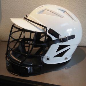 Mens Lacrosse Adult Helmet Cascade PLH 2000 White & Black, Bull riding,