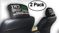 Set of 2 Uber Lyft Tips+5 Stars Rating Rideshare Headrest Covers Sign by SNG888