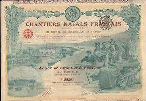 FRANCE French Shipyard : Chantiers Navals Francais dd 1918  TOP DECORATIVE