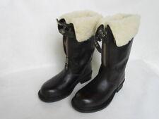 Fellstiefel Winterstiefel Biker Boots Lammfell Vintage Rockabilly Rod Stiefel 42