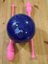 "RHYTHMIC GYMNASTICS - Approved 18"" Chacott Clubs Pink & 7"" Blue Ball"