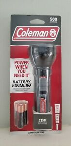 Coleman Flashlight 325M Battery Guard New 500 Lumens Batteries Included