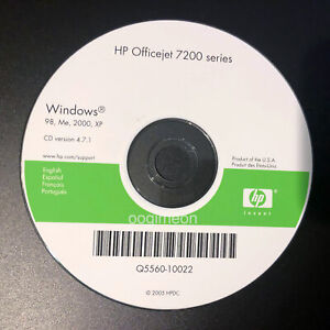 Setup CD ROM for HP OfficeJet 7200 Series Software for Windows 7210 7213
