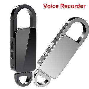 Mini Hidden Spy Digital Audio Voice Activated Recorder MP3 Playback Small Smart