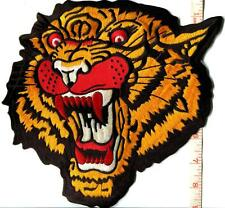 Tiger cat puma jaguar lion leopard animal iron-on patch BIG XL 8.75 X 9 inches!