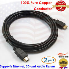 2Packs Gold HDMI-15 HDMI Cable (15 feet), 3D&1080P and Audio Return