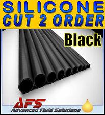 CUT BLACK 6mm I.D 1/4 inch Straight Silicone Hose Venair Silicon Radiator Pipe