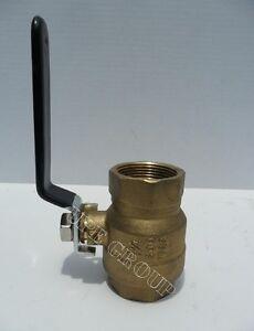 "New 1.25"" BRASS ball valve full flow gate valve vinyl handle industrial 600 WOG"