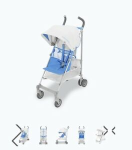 NEW Maclaren Silver / Marina Blue Volo Pushchair / Stroller Boxed inc Raincover