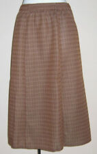 NEW LADIES SLIMMA BROWN CHECK PULL-ON SKIRT SIZE 18
