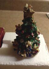 The San Francisco Music Box Company Mice In Tree Christmas Tree Ornament Org Box