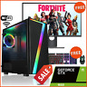 "GAMING PC i7 ULTRA FAST BUNDLE 22"" SCREEN 16GB 240 GB SSD 2TB GTX 1650 4GB WiFi"