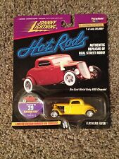 JL Johnny Lightning Hot Rods 1/64 Ford Coupe Flathead Flyer Show Car Yellow #39