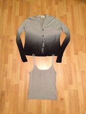 Ladies Suchita Silver/Black Dip-Dye Glittery Cardigan & Vest Set Size 1 (UK 10)
