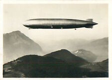 Engelberg Valley Schweiz Switzerland Suisse Zeppelin Airship Dirigible CARD 30s