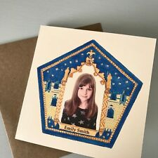 Personalised Chocolate Frog Harry Potter Birthday Card / Gift UK