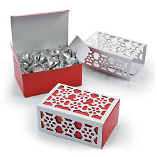 12 Christmas holiday Winter Red Snowflake boxes loot favor bag Frozen Party