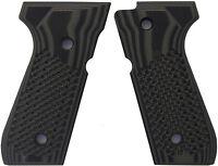 Beretta 92 FS Grips G10 Golfball Texture by LOK Grips OD Green/Black