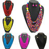 Exaggerated Multilayer Chain Bohemia Beads Statement Choker Chunky Necklace Set