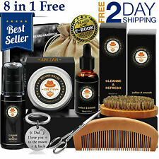 Beard Care Kit Tool Set Grooming Balm Oil Mustache Products Supplies Travel New