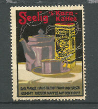 SEELIG's Kornkaffee advertising stamp/label