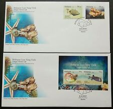 Malaysia 2007 Unique Marine Life Joint Iss Brunei 2v Stamps & MS on 2 FDC Melaka