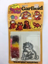 Vintage Make It Bake It Stained Glass Sun Catcher Garfield No. 53509 New