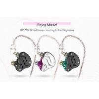 KZ ZSN HiFi Stereo Sports Earphones Armature Driver Hybrid Wired In-Ear Earbuds