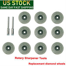 US Diamond Replacemant Wheels For Tungsten Grinder Sharpener Rotary Tool 10X